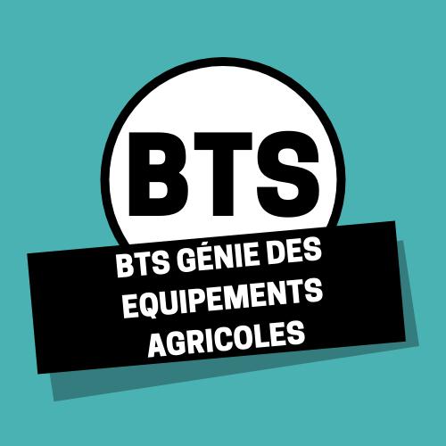 BTS Génie des Equipements Agricoles